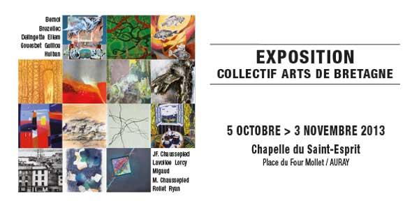 exposition du collectif Arts de Bretagne à Auray